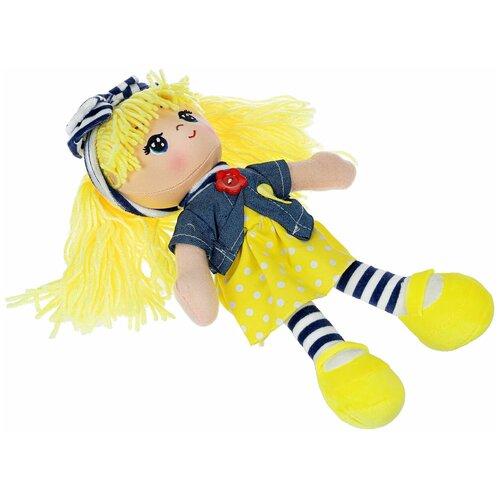 Фото - Мягкая кукла Bondibon Oly, 26 см, пакет, Вика-желтые волосы (ВВ4995) мягкие игрушки bondibon кукла oly ника 26 см