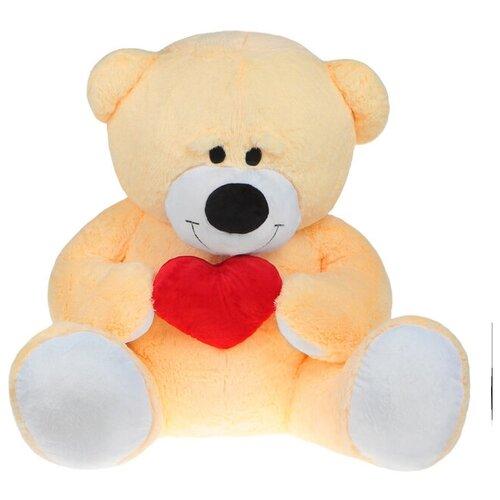 Бока Мягкая игрушка «Мишка большой с сердцем», цвет персиковый