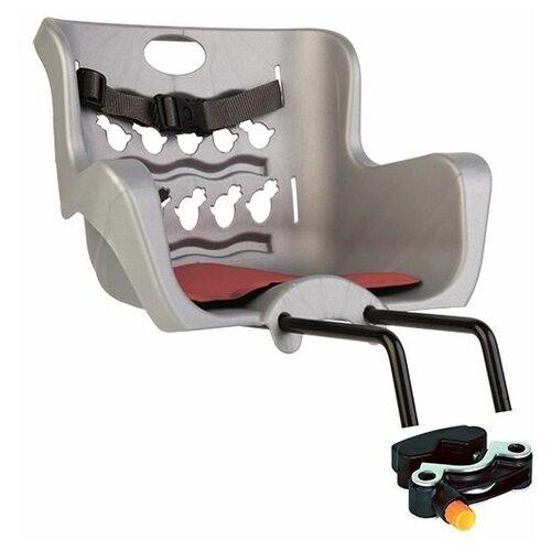 Сиденье Bellelli переднее Pulcino Handle Fix серебристое, Велокресла  - купить со скидкой