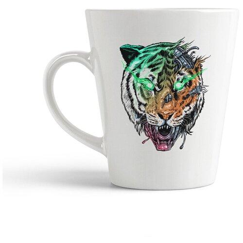 Кружка-латте CoolPodarok Тигр киборг