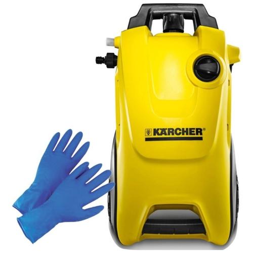 Аппарат высокого давления Karcher K4 Pure + прочные латексные перчатки