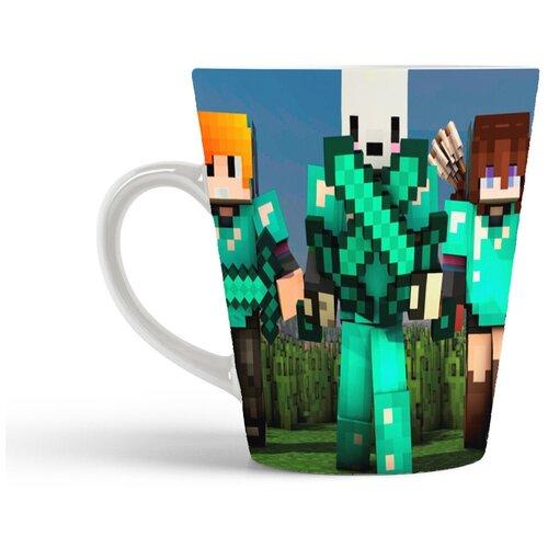 Кружка-латте CoolPodarok Minecraft Майнкрафт (трое)