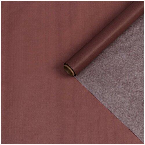 Бумага упаковочная тишью, коричневая, 0,6 х 10 м