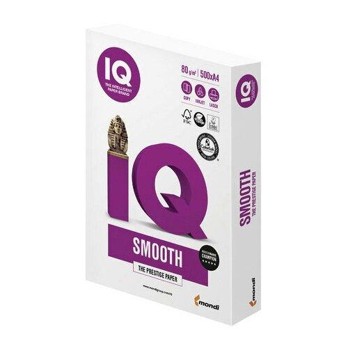 Фото - Бумага офисная IQ SMOOTH, А4, 80 г/м2, 500 л., марка А+, Mondi, белизна 170% бумага iq allround а4 марка в 80 г м2 500 листов