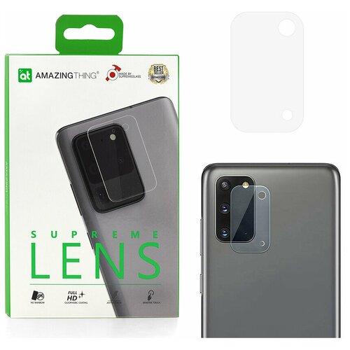 Защитное стекло для камеры Samsung Galaxy S20 Plus /S20+ Amazingthing SupremeLens Pure 0.33mm / защита камеры / защита от падений / олеофобное стекло / стекло на камеру / прозрачное стекло для камеры / для защиты камеры телефона / стекло на камеру / защита от царапин / стекло основной камеры / противоударное стекло на камеру / стекло для задней камеры / защитное стекло для основной камеры телефона / накладка на камеру / стекло задней камеры / прозрачное стекло на камеру