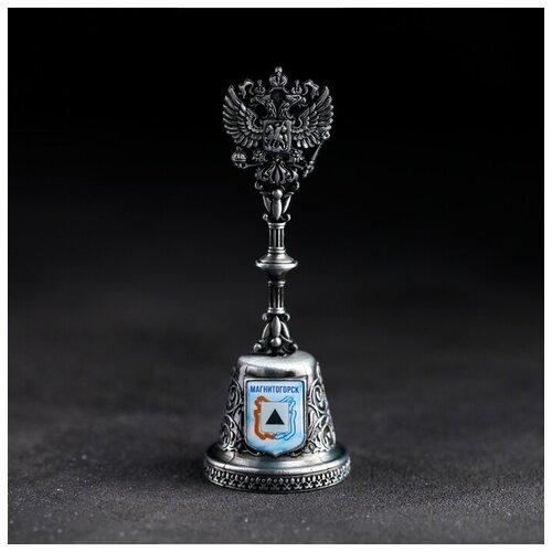Колокольчик в форме герба «Магнитогорск» (Монумент «Тыл – фронту»), 11,8 х 4,2 см 4174843