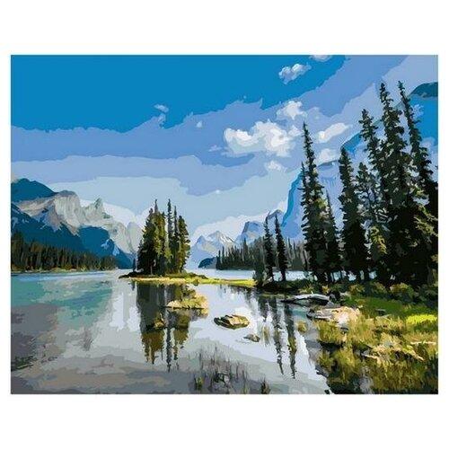Картина по номерам Paintboy GX 36197 Речная гладь в горном лесу 40х50 см картина по номерам 40х50 см леопард в лесу gx8340