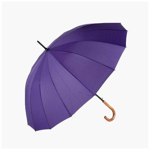 Зонт-трость 2816 16 спиц фиолетовый