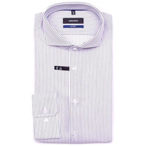 Рубашка Seidensticker Tailored fit размер 42 белый/синий