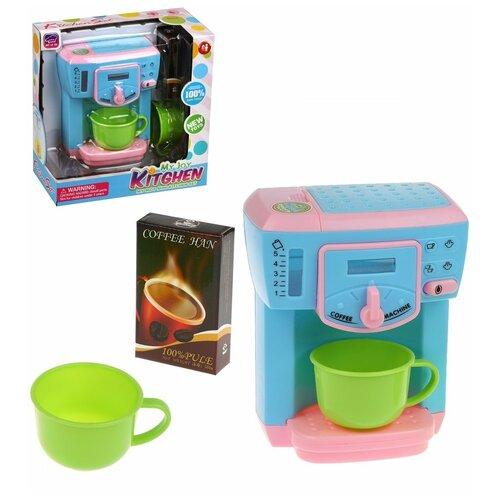 Кофемашина Наша Игрушка 3 предмета, свет, звук, коробка (8023)
