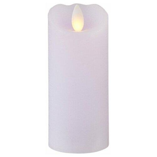 свеча светодиодная пластиковая с эффектом мерцающего пламени высота 8 5 см цвет бежевый 063 88 Свеча светодиодная с эффектом мерцающего пламени, с таймером, 12,5 см, цвет: светло-сиреневый, 062-95