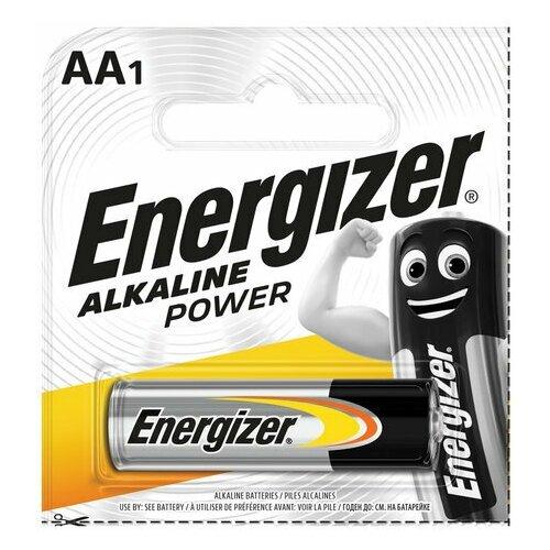 Фото - Батарейка ENERGIZER Alkaline Power, AA (LR06, 15А), алкалиновая, пальчиковая, 1 шт., в блистере (отрывной блок), E300140301 батарейка gp alkaline 192 g3 lr41 алкалиновая 1 шт в блистере отрывной блок 192 2cy 4891199015533
