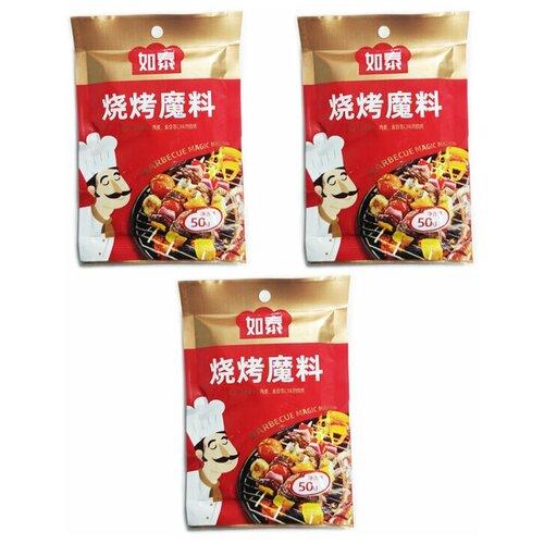 Приправа для шашлыка, стейков, курицы острая (3 шт. по 50 г) приправа для стейков с регулируемой мельничкой 108 г 3 81 унции