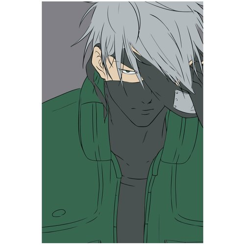 Какаси Хатакэ в тени аниме Раскраска картина по номерам на холсте