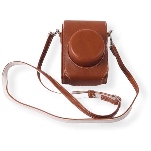 Сумка-кожух-кобура MyPads из качественной импортной кожи для фотоаппарата Leica D-Lux (Typ 109) коричневого цвета