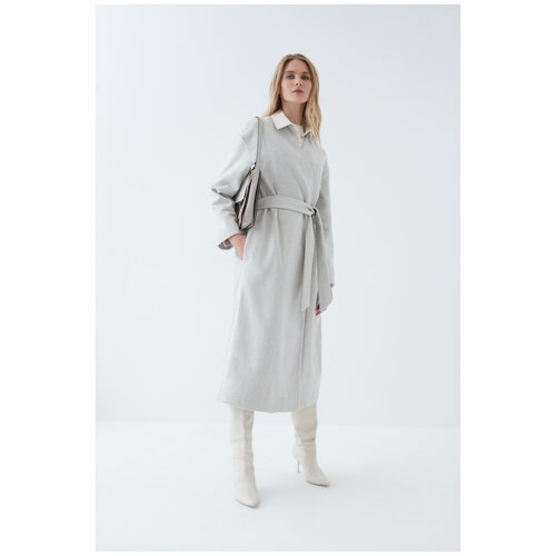 Фото - Пальто Zarina, размер 46(M), светло-серый меланж платье oodji collection цвет светло серый меланж 24001104 5b 47420 2000m размер m 46