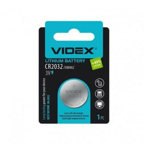 Фото - Элемент питания VIDEX Lithium CR2032 BL-1 батарейка videx lithium cr2032 bl 5