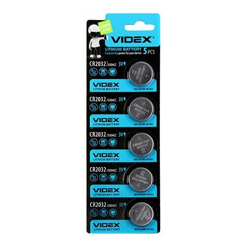 Фото - Элемент питания VIDEX Lithium CR2032 BL-5 батарейка videx lithium cr2032 bl 5
