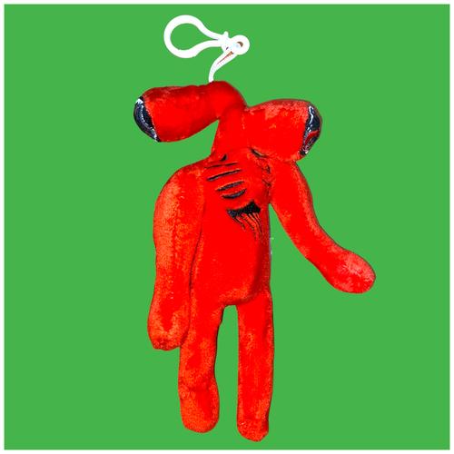 Мягкая игрушка брелок Сиреноголовый из SCP красный, 20 см