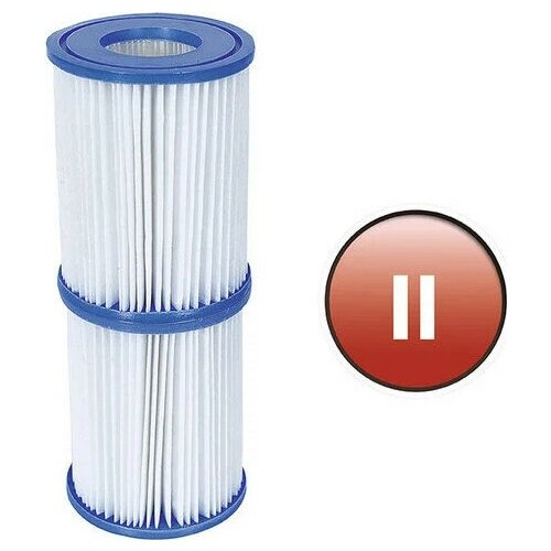 Bestway Картридж (II) 2шт, 10,6х13,6см для фильтр-насоса 2006/3028л/ч BestWay, 58094 [58094]