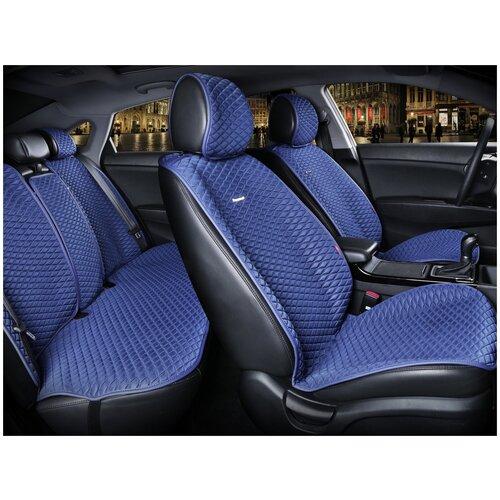 Комплект накидок на автомобильные сиденья CarFashion PALERMO PLUS синий/синий