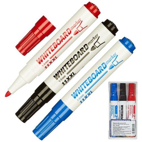 Набор маркеров для досок ICO 3 штуки, 1-3 мм, губка для досок