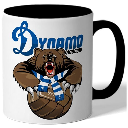 Кружка цветная Динамо Dynamo Moscow - Медведь