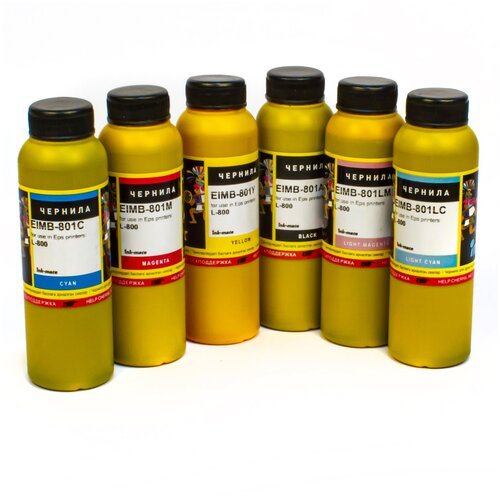 Чернила (краска) Ink-mate для принтеров Epson InkJet Photo:L800, L805, L1800, L850, L810 100x6