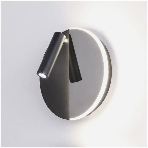 Настенный светильник Elektrostandard Drom Drom LED чёрный/чёрный жемчуг (40105/LED), Черный, LED