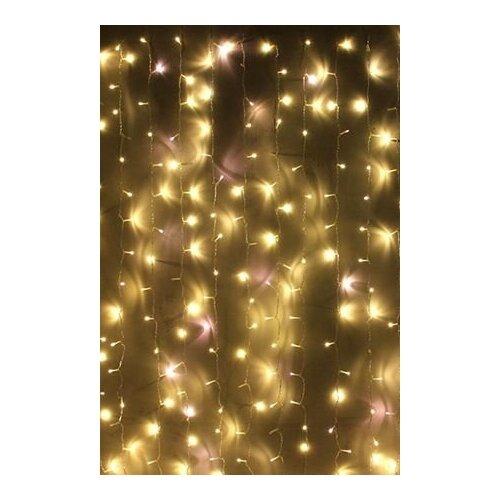 Занавес световой PLAY LIGHT мерцающий, 600 LED ламп, (480 статичных тёплых белых/120 мерцающих холодных белых LED ламп),