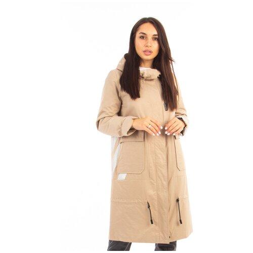 Фото - Куртка Mishele, размер 48, бежевый куртка icepeak 650010588iv размер 140 бежевый