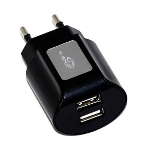 Сетевой адаптер питания KS-is KS-056B Toss зарядка 2А USB-порт, чёрное