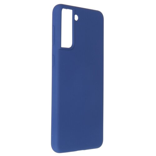 Фото - Чехол Pero для Samsung Galaxy S21 Plus Liquid Silicone Blue PCLS-0039-BL чехол pero для samsung s21 plus liquid silicone yellow pcls 0039 yw
