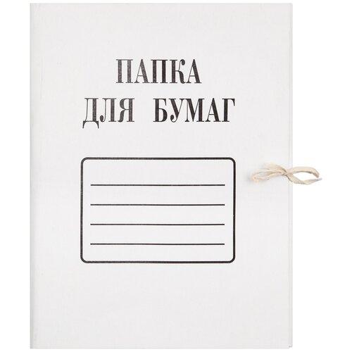 Купить Папка с завязками Комус 280 г/м2, мелованная, 10 штук, Файлы и папки