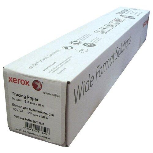 Фото - Калька XEROX Inkjet Tracing Paper Roll (914ммх50м, 90 гр.) tracing paper инженерная калька 450l97054