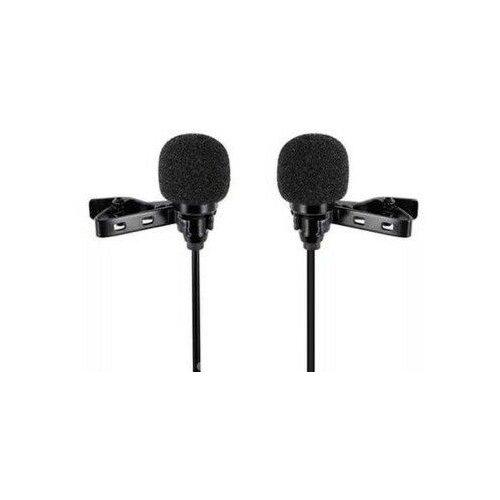 Микрофон CANDC DC-C10DM двойной, петличный, Lightning, черный