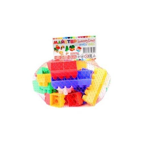 Конструктор детский блочный разноцветный из 43 элементов MAXIMUS в сетке / конструктор для мальчиков / развивающие игрушки / конструкторы для девочек / конструкторы для мальчиков / конструктор для девочек / детский конструктор
