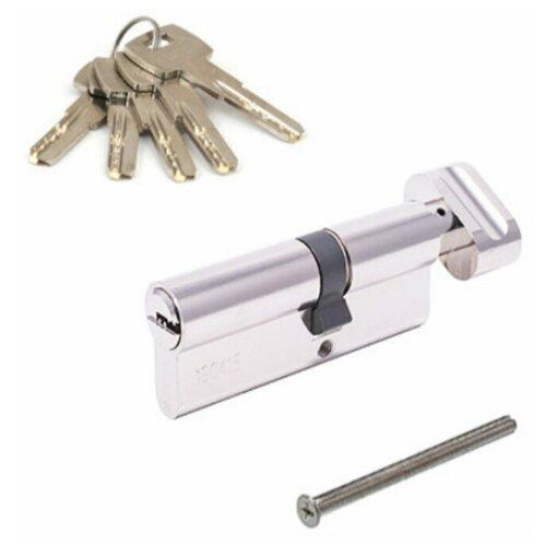 Цилиндр Apecs SM-80(35C/45)-C-NI, ключ/вертушка цилиндр apecs sm 80 35c 45 c g 35x45 мм ключ вертушка цвет золото