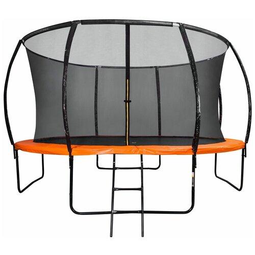 Фото - Батут DFC TRAMPOLINE KENGOO II с сеткой 12FT-BAS-BO каркасный батут dfc trampoline kengoo ii 16ft bas bo оранжевый