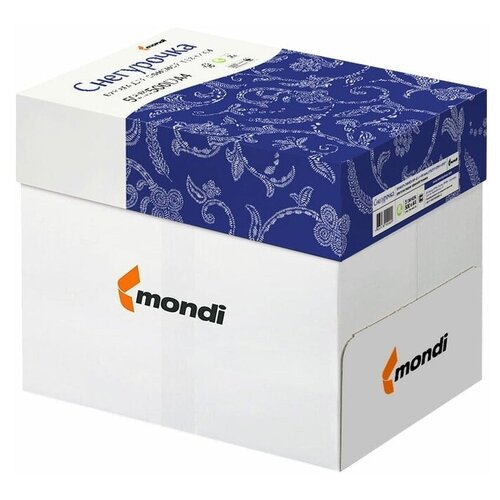 Бумага офисная снегурочка, А4, 80 г/м2, 500 л., марка С, Mondi, белизна 146% * 2 пачки