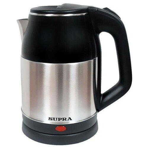 Чайник электрический Supra KES-1844S, 1.8 л, 1500 Вт, черный/нержавеющая сталь
