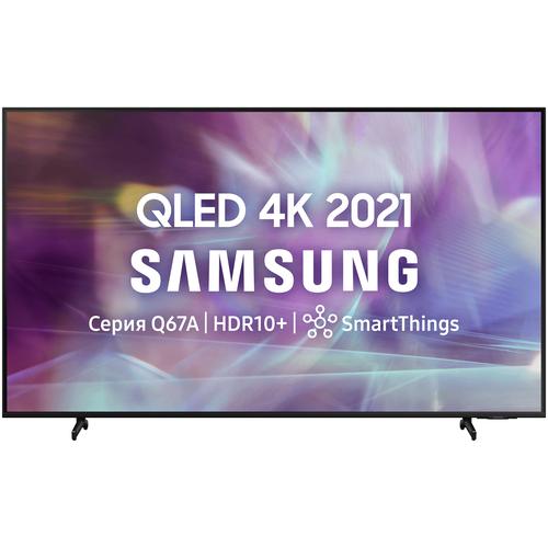 Фото - Телевизор QLED Samsung QE85Q60AAU 84.5 (2021), черный телевизор samsung ue50au7100u 49 5 2021 черный