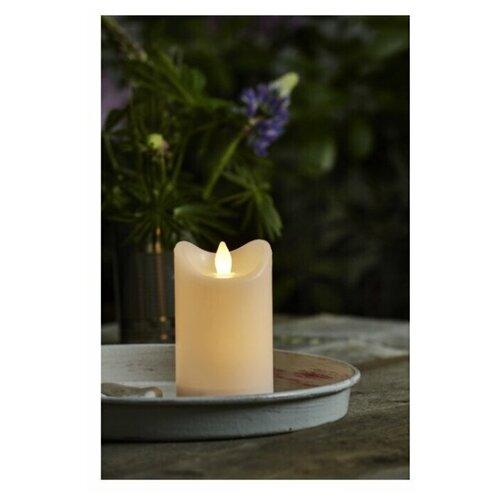 свеча светодиодная пластиковая с эффектом мерцающего пламени высота 8 5 см цвет бежевый 063 88 Свеча светодиодная пластиковая BIANCO с эффектом мерцающего пламени, высота - 12 см, цвет - белый, 064-01