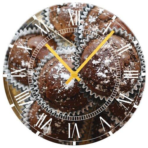 SvS Настенные часы SvS 3001299 Kitchen Шоколадные кексы недорого
