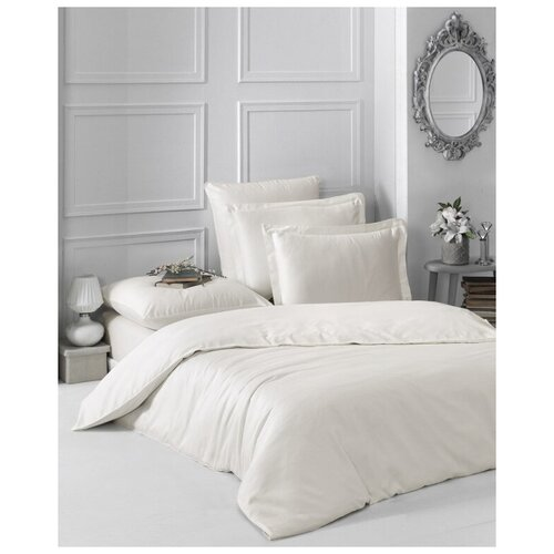Комплект постельного белья евро LOFT (экрю) комплект постельного белья karna евро сатин однотонный loft екрю 2986 char003