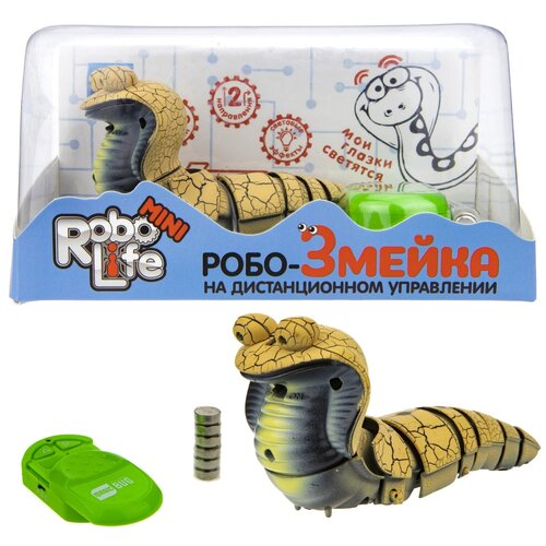 Купить Интерактивная игрушка 1Toy Робо-Змейка, на ИК-пульте, песочная (Т18751), 1 TOY, Роботы и трансформеры