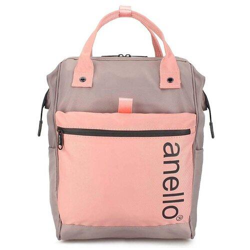 Сумка-рюкзак «Anello Big» 343 Grey/Pink