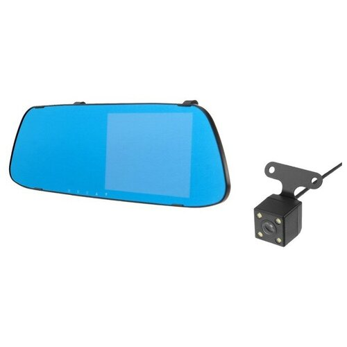 Видеорегистратор автомобильный две камеры, разрешение HD 1080P, TFT 5.0, угол обзора 170°
