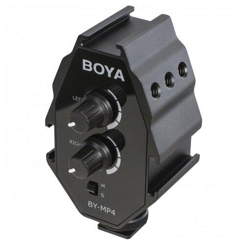 Двухканальный аудиоадаптер для смартфонов, камер BOYA BY-MP4