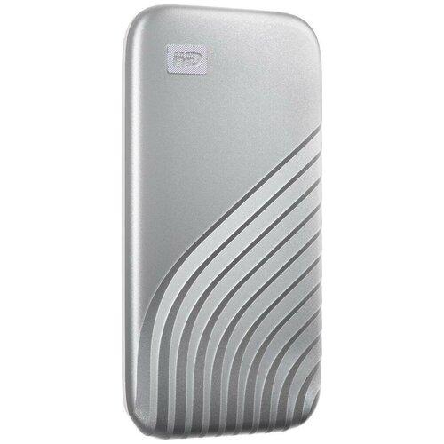 Фото - Внешний SSD WD 1TB My Passport SSD USB 3.2 Gen 2 - Silver (WDBAGF0010BSL-WESN) внешний диск ssd wd my passport wdbagf0020bgy wesn 2тб серый